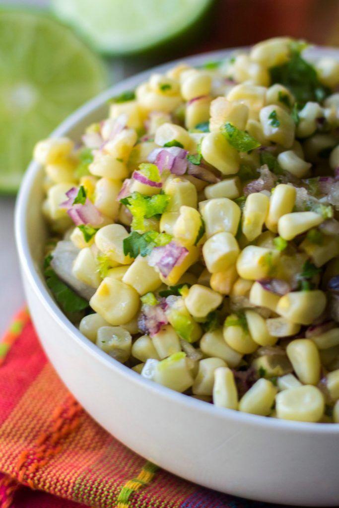 chipotle corn salsa close up