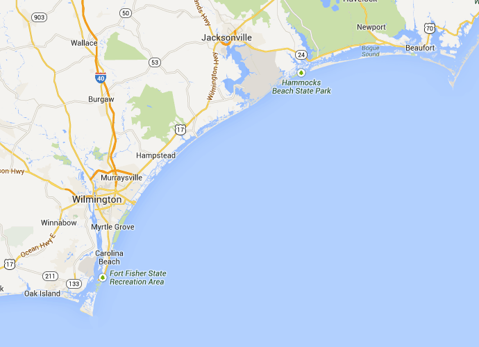 surf city nc to wilmington nc best route map driving direction