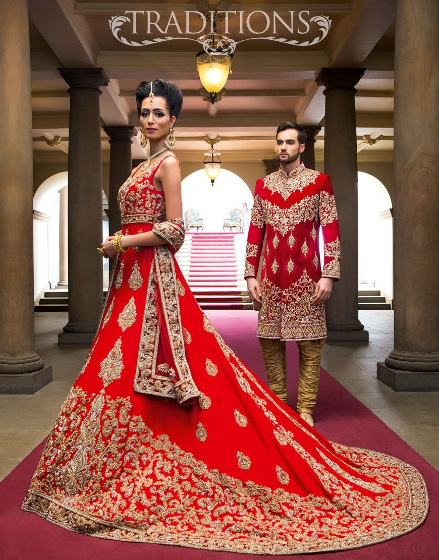 Deep Red Velvet Purple And Cream Indian Bride Outfits Asian Bridal Wear Bride Clothes