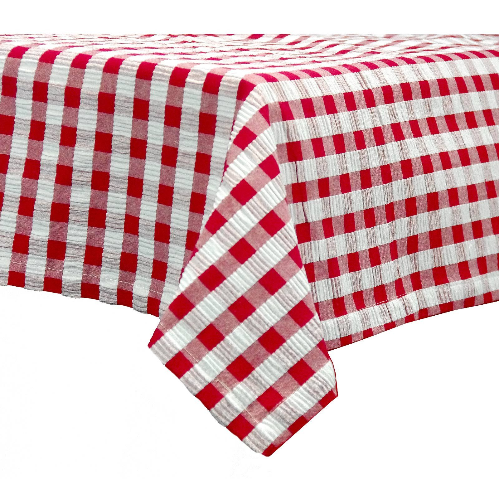 Charming Gingham Seersucker Tablecloths 145cm Square 230cm U0026 270cm Rectangle U2013  Curtains, Tablecloths And Table Linen