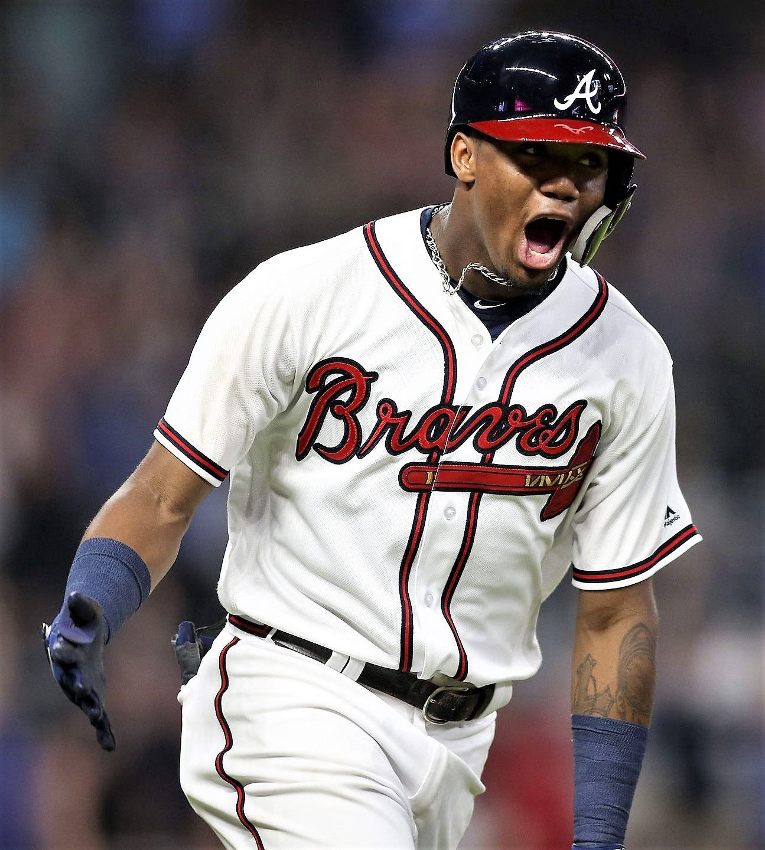 Aug 14 Ronald Acuna Jr Braves 2 Vs Marlins Brett Davis Usa Today Sports Atlanta Braves Atlanta Braves Baseball Espn Baseball