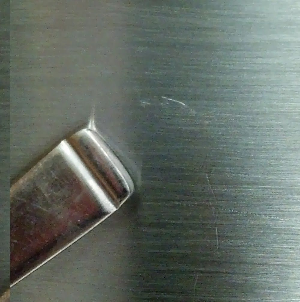 How To Repair Scratches In Stainless Steel Stainless Steel Paint Stainless Steel Fridge Brushed Stainless Steel