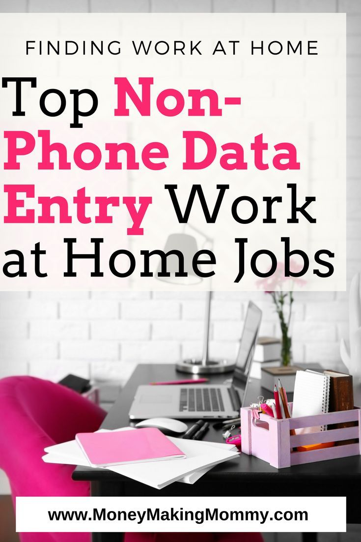 Top Non-Phone Data Entry Work at Home Jobs | Data entry and Extra money