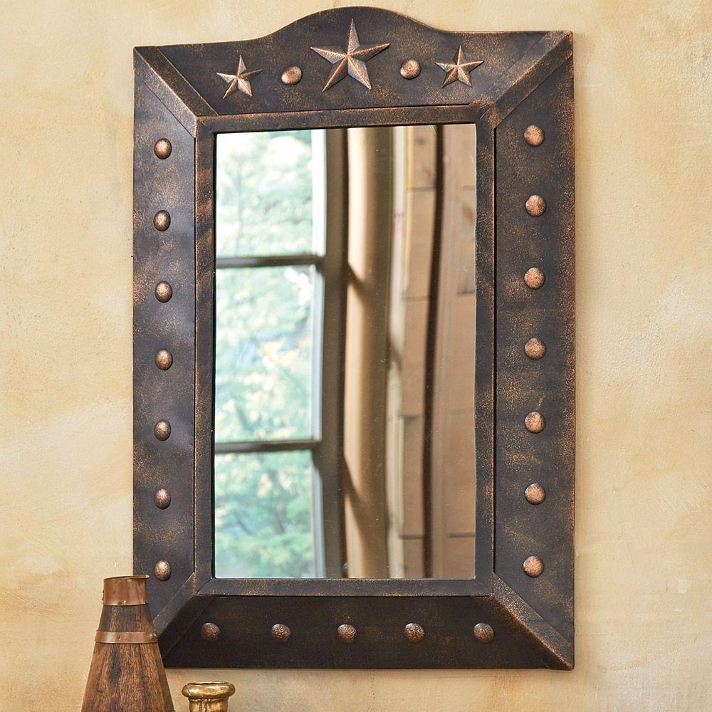 Genial Western Motif Bathroom Mirrors