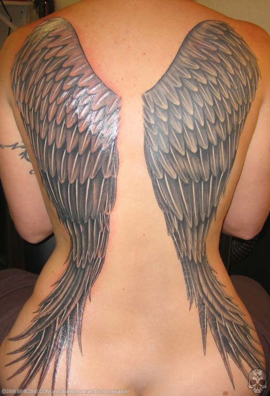 99 Breathtaking Angel Tattoos (With Meaning) | Angel wings, Tattoo ...