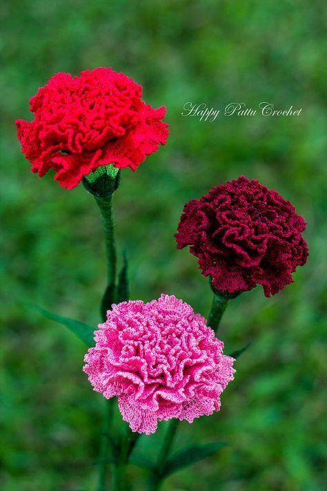 Crochet Flower Pattern Croche Carnation Pattern Carnation | szydełko ...