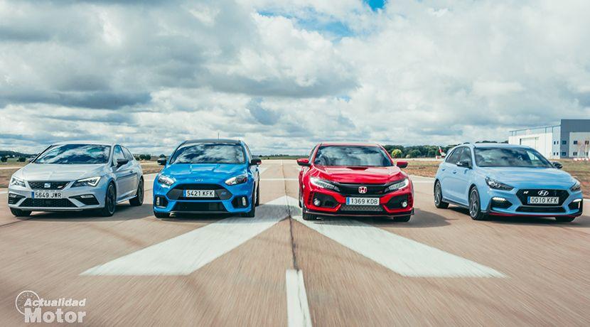 Focus Rs Vs Civic Type R Vs Leon Cupra Vs I30 N Cual Gana Video Honda Civic Type R Honda Civic Y Ford Focus