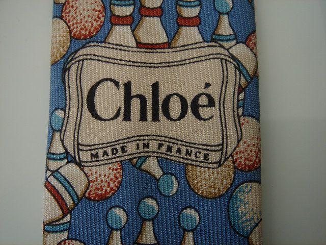 prix réduit techniques modernes doux et léger CRAVATE CHLOE SOIE MOTIF BOWLING TB. ETAT | cravates vintage ...