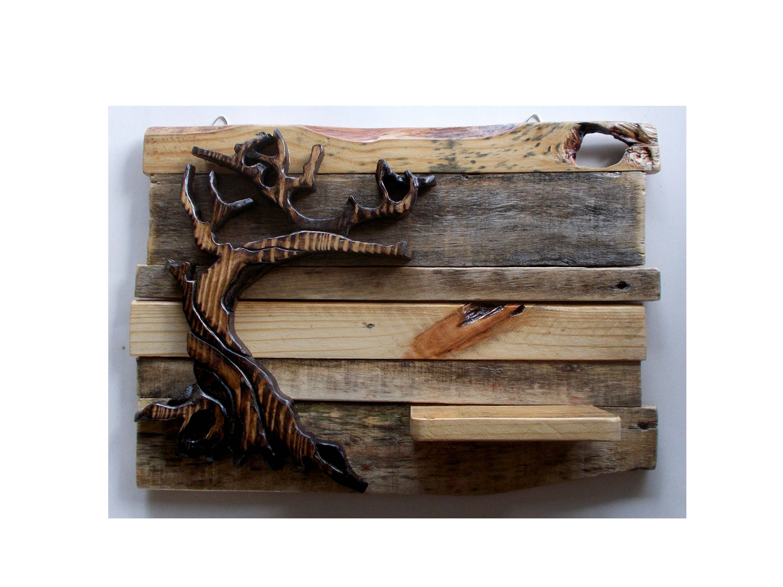Wood wall tree decor wall art with shelf tree art twisted tree