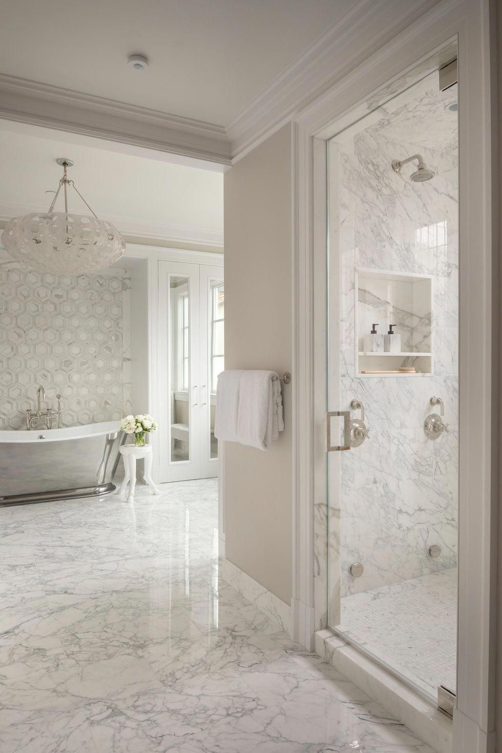 How to clean leather? White marble bathrooms, Big