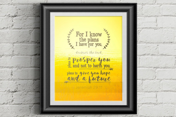 Therapist Gift, Christian Wall Art, Encouragement Scripture Art ...