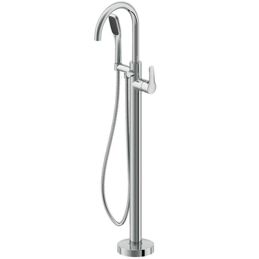 Jacuzzi Primo Polished Chrome 1 Handle Residential Freestanding Bathtub Faucet With Hand Shower Lowes Com Freestanding Tub Filler Freestanding Bathtub Faucet Free Standing Tub