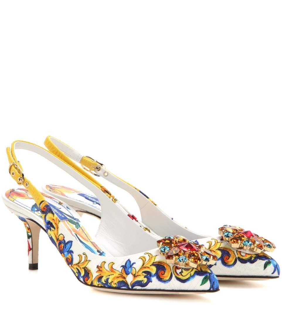 sale brand new unisex Dolce & Gabbana embellished slingback pumps outlet visit FWJIkU