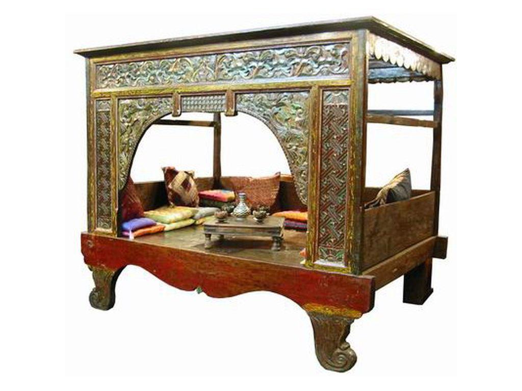 Cama china antigua policromada | Pinterest | China antigua, Antigua ...