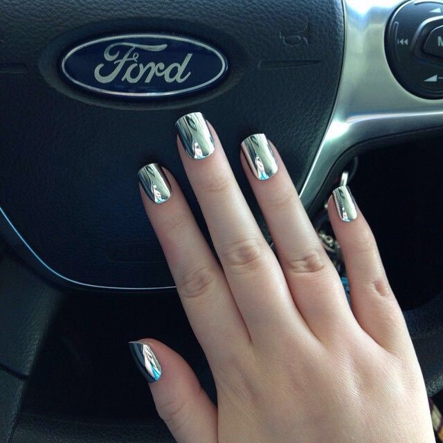 Silver chrome mirror nails from Dashing Diva. | Nails | Pinterest ...