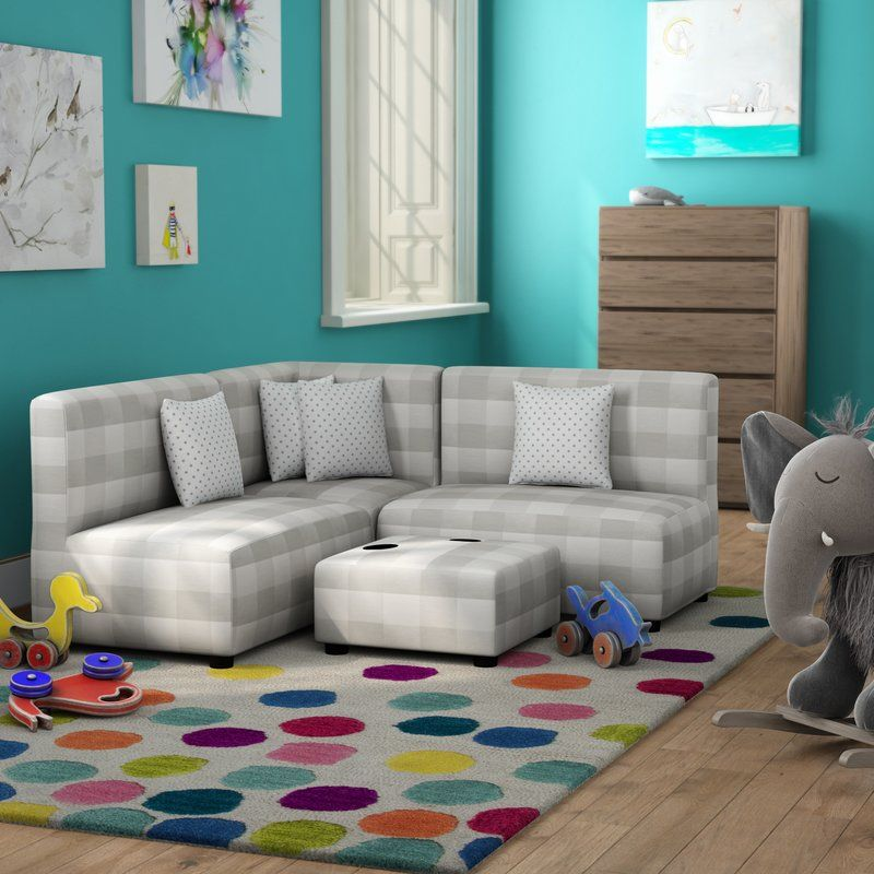 Lake Alfred Kids Sofa with Cup Holder