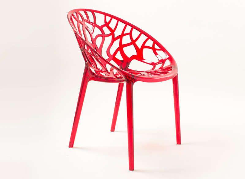 Chaise Rouge Design Chaise Design En Plastique Achatdesign