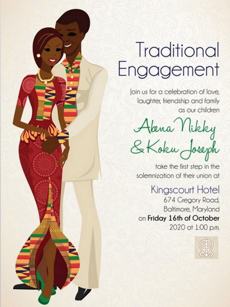 10 African Wedding Invitations Designed Perfectly Wedding Fever