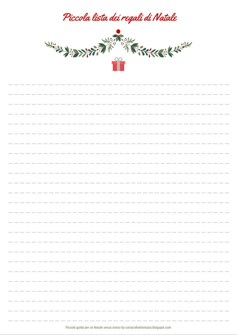 Lista Regali Natale.Carta Colla E Fantasia Piccola Guida Per Un Natale Senza