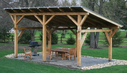 Outdoor shelter ideas timber frame pergolas timber for Average cost to build a pavilion