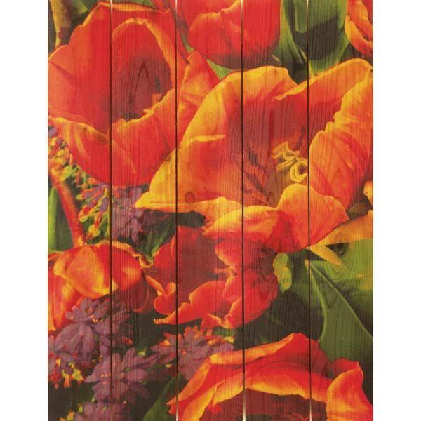 """Buy Daydream Gizaun Cedar Wall Art, Full Bloom, 28"""" x 36"""" at Woodcraft.com"""