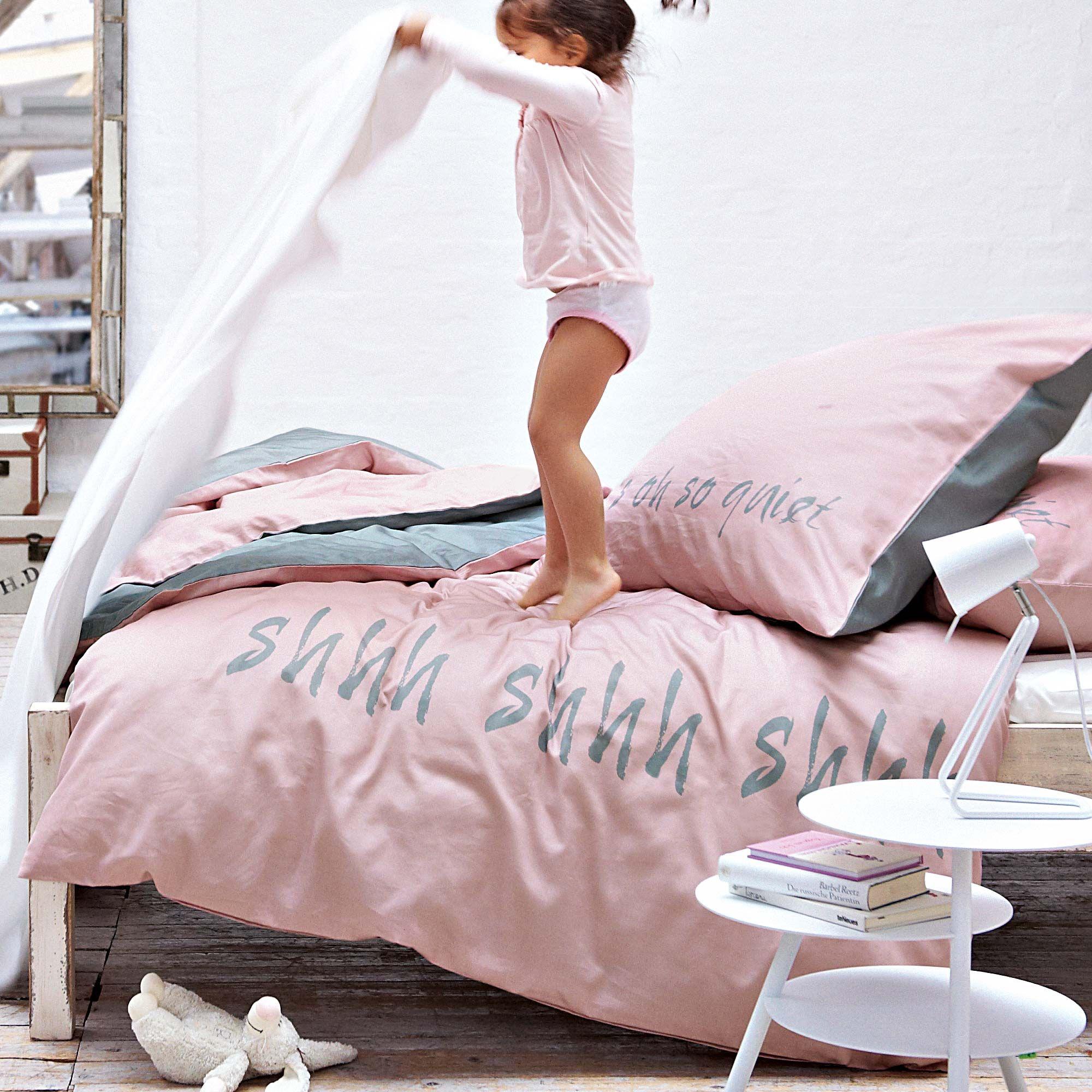shhh, shhh. Bettwäsche in rosa und grau. | BABY BABY BABY ...
