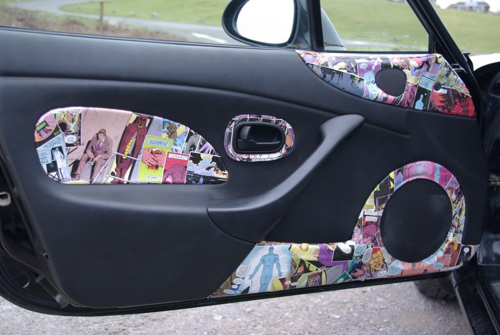 Custom nb2 miata interior doors by neuromantic