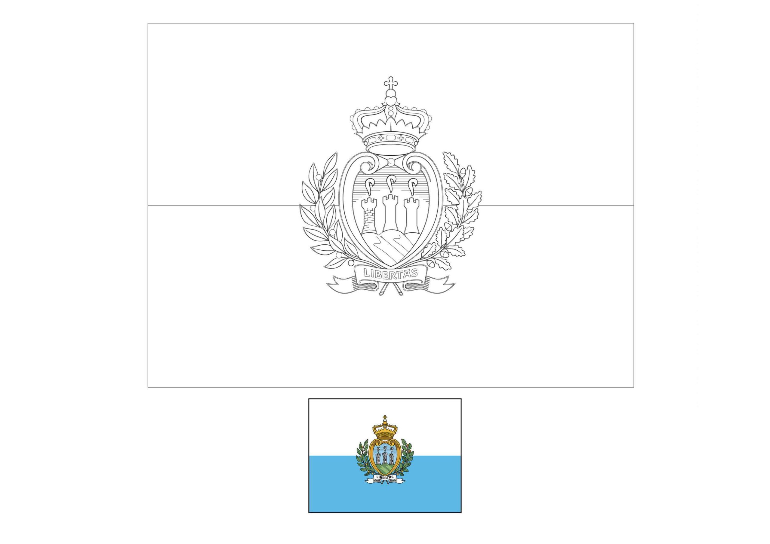 San Marino Flag Coloring Page Flag Coloring Pages Coloring