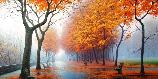 Abstract Painting Nature Wallpapers Autumn Wallpaper Hd Nature Wallpaper Desktop Wallpaper Fall