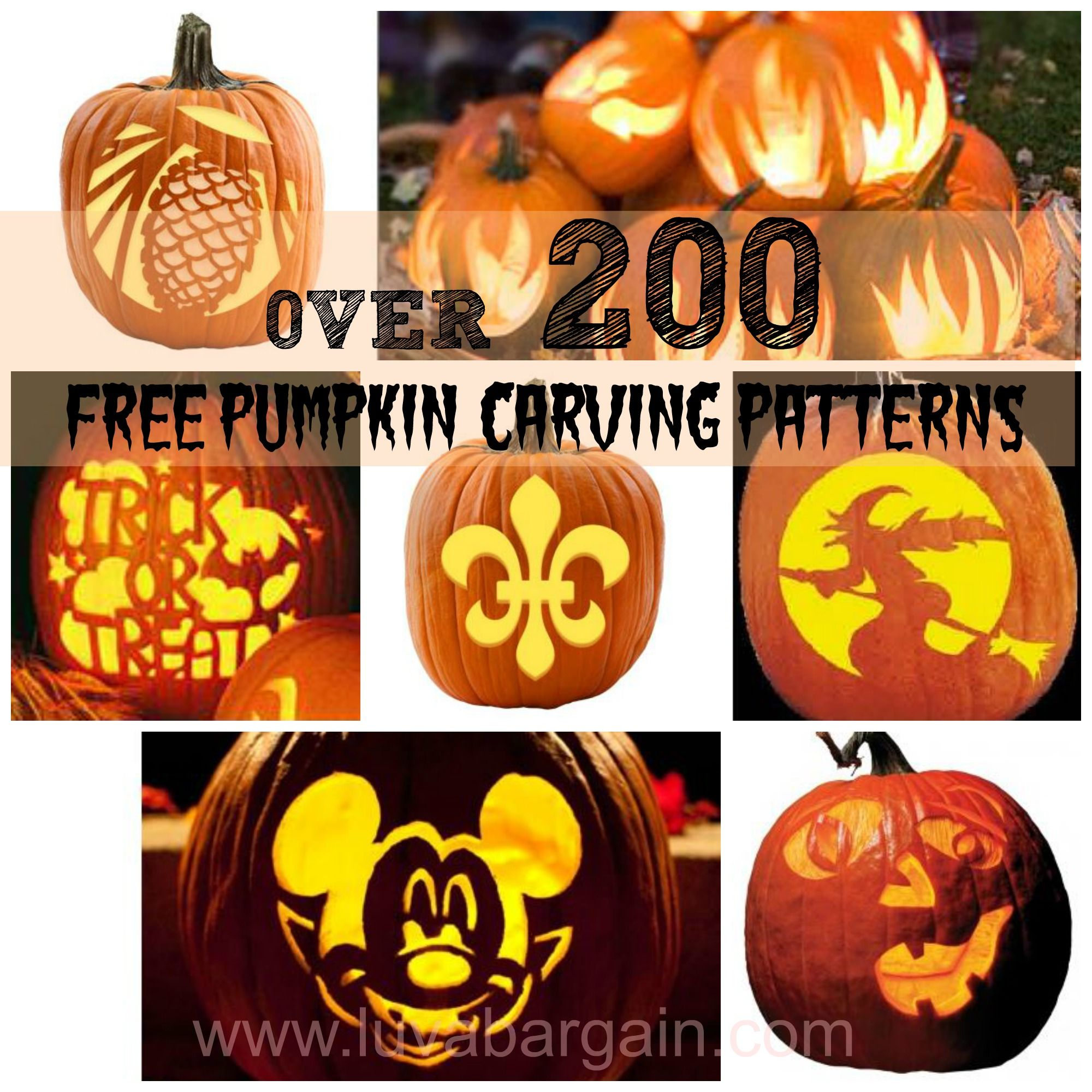 Hundreds of Free Pumpkin Carving Patterns | Free pumpkin carving ...