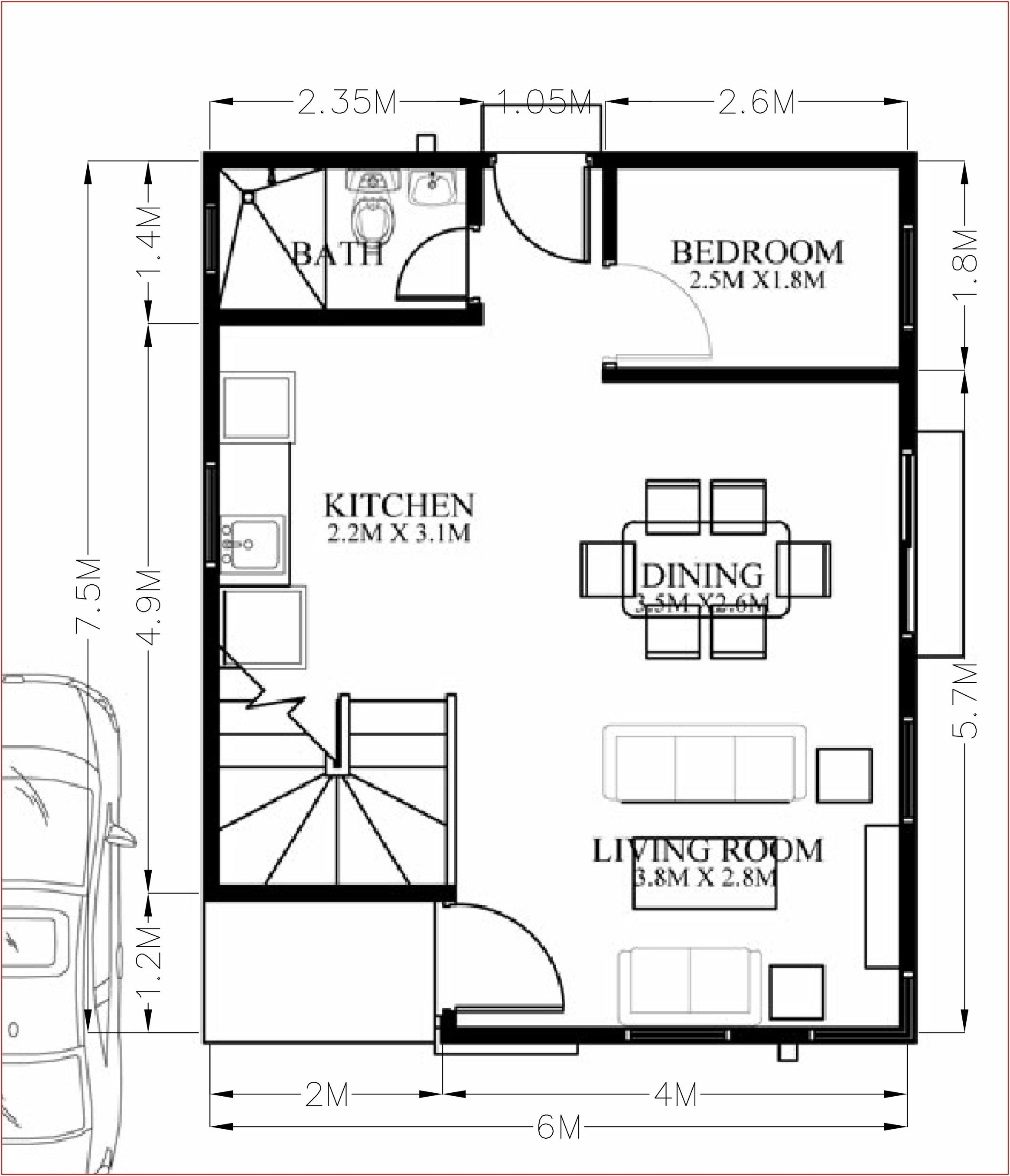 Small Home Design Plan 6x7 5m With 4 Bedrooms Home Design With Plan House Plans Mediterranean Style House Plans Craftsman Style House Plans