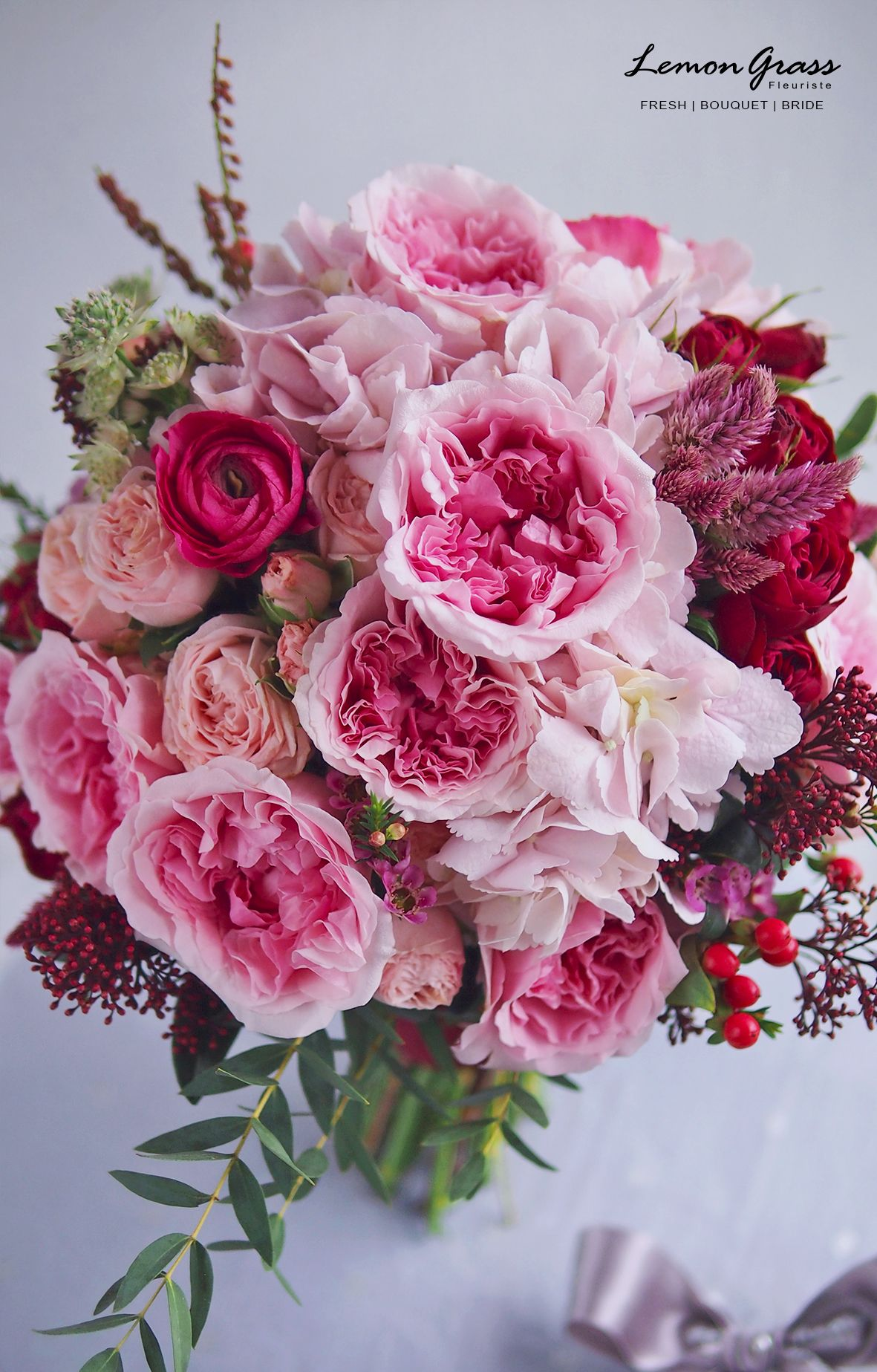 A beautiful pink wedding bouquet wedding bouquets pink