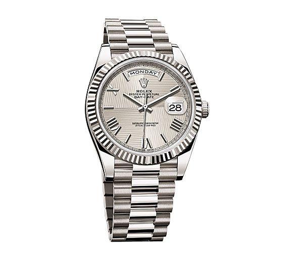 6581c1b27a6 Rolex Day-Date 40 Silver Quadrant Dial 18K White Gold Automatic Men s Watch  228239SQRSP