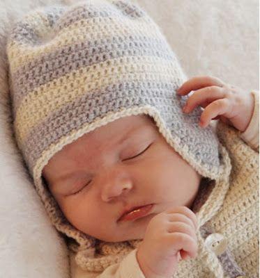 gorro tejido a crochet para bebe y niño gorro con orjera tejido a crochet 704bc5f7b42