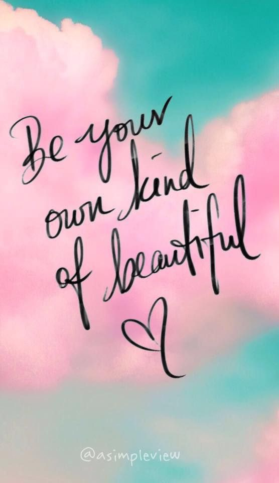 Pink Quote Saying Wallpaper Be Your Own Kind Of Beautiful Frame Crafts Quotes