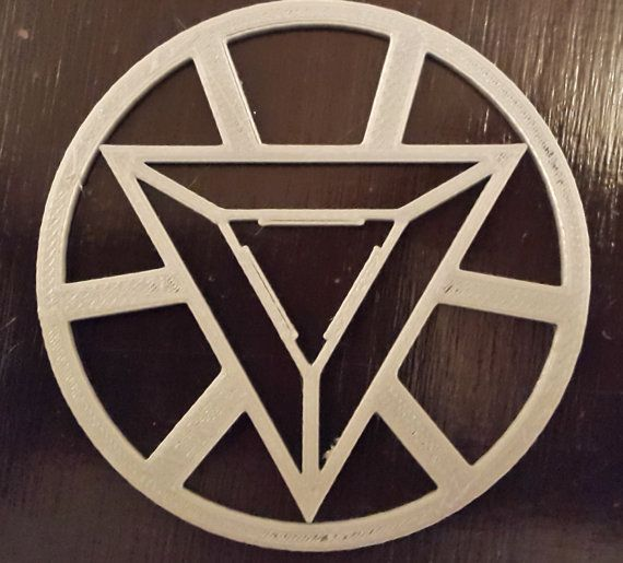 This Is A Triangular Iron Man Symbol As Seen On The Face Of Iron