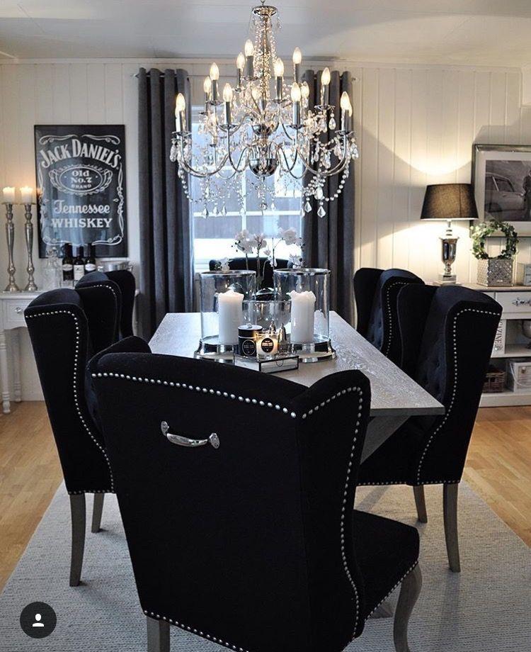 Elegant Dining Room Set Black: Kitchen Decor In 2019