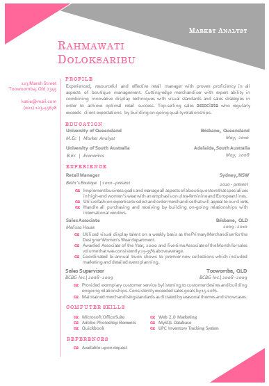 Modern Resume Examples. Modern Resume Template And Cover Letter
