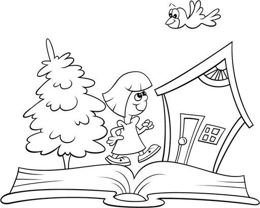 Dibujos infantiles de utiles escolares para pintar imprimir gratis ...