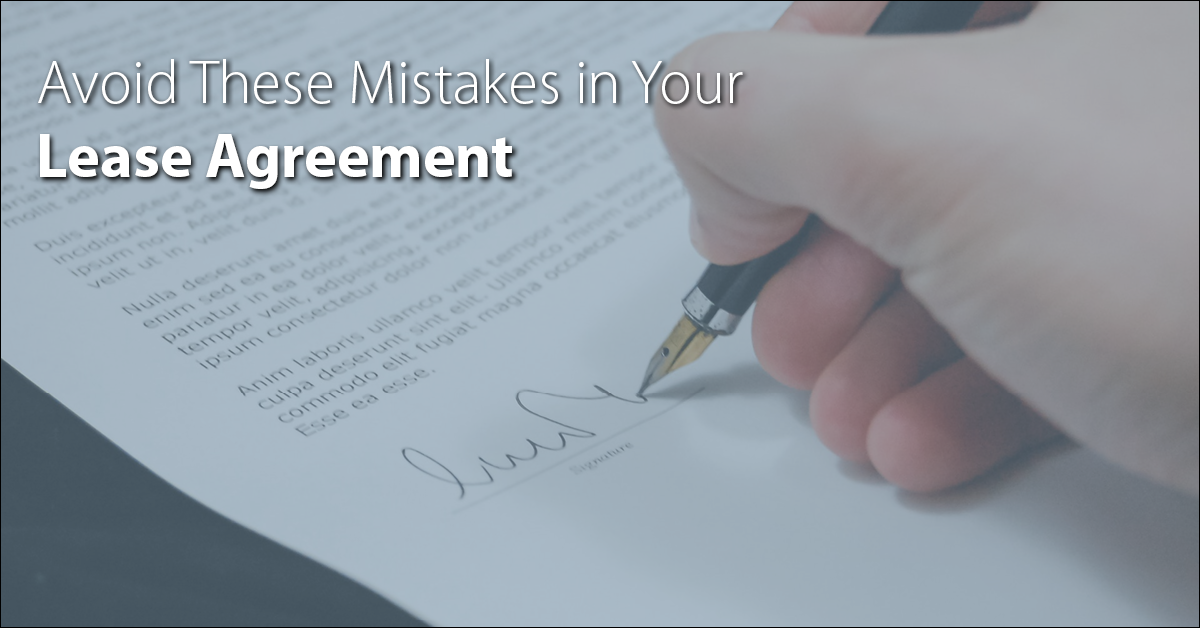 Avoid These Mistakes To On Your Lease Agreement To Protect You