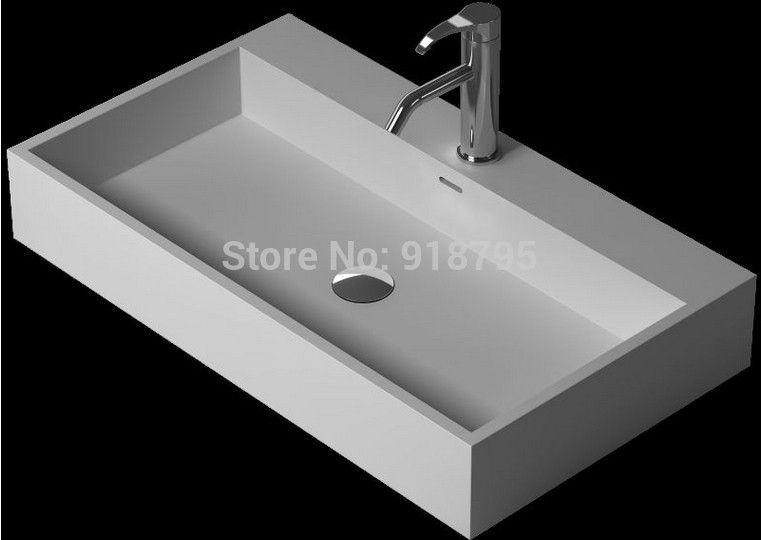 Bathroom Corian Under Counter Wash Sink Solid Surface Stone Wash