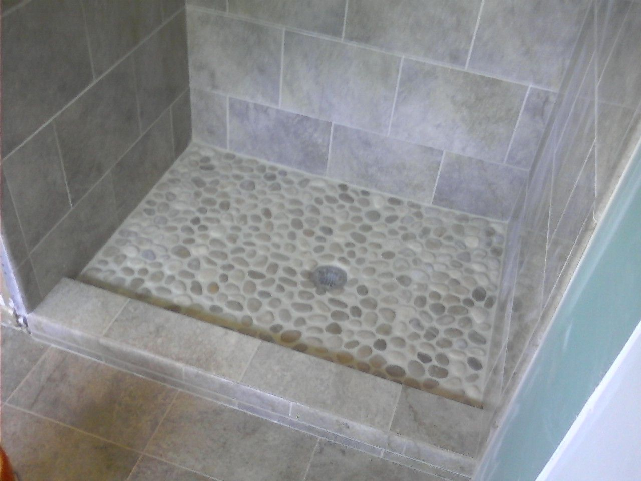 Rock Tile For Shower Floor Installing Ceramic Flooring Could Be Achieved By Anyone With Great Sight Or Gles Who