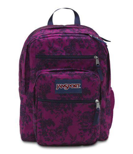 JanSport Big Student Backpack, Navy Moonshine Vintage Floral ...