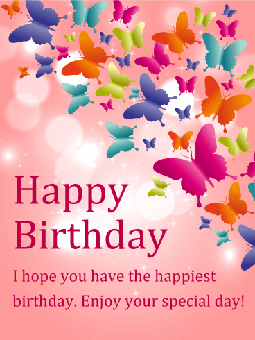 shining butterfly happy birthday card birthday card pinterest