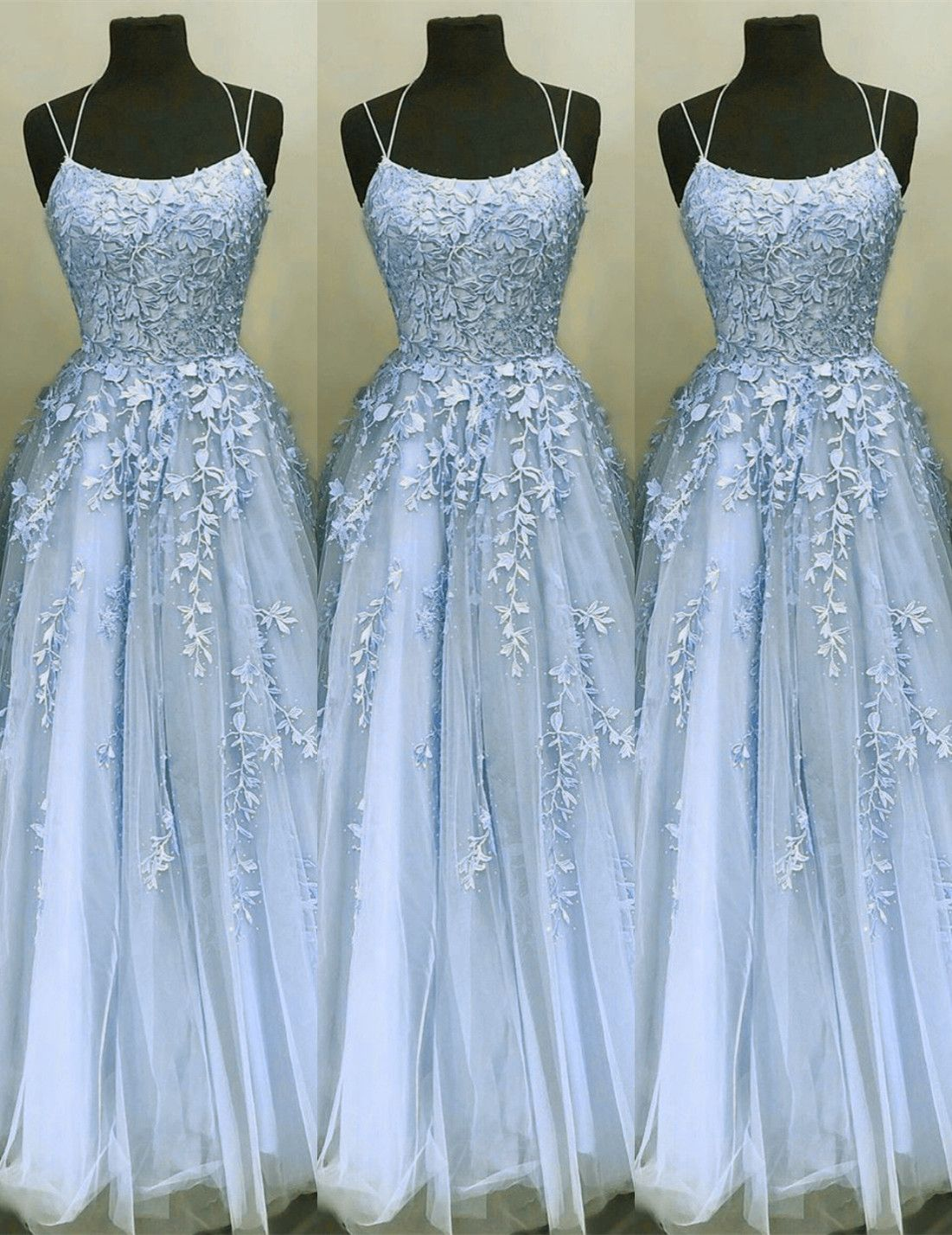 Elegant Prom Dresses Ball Gown Tulle Floor Length Lace Embroidery