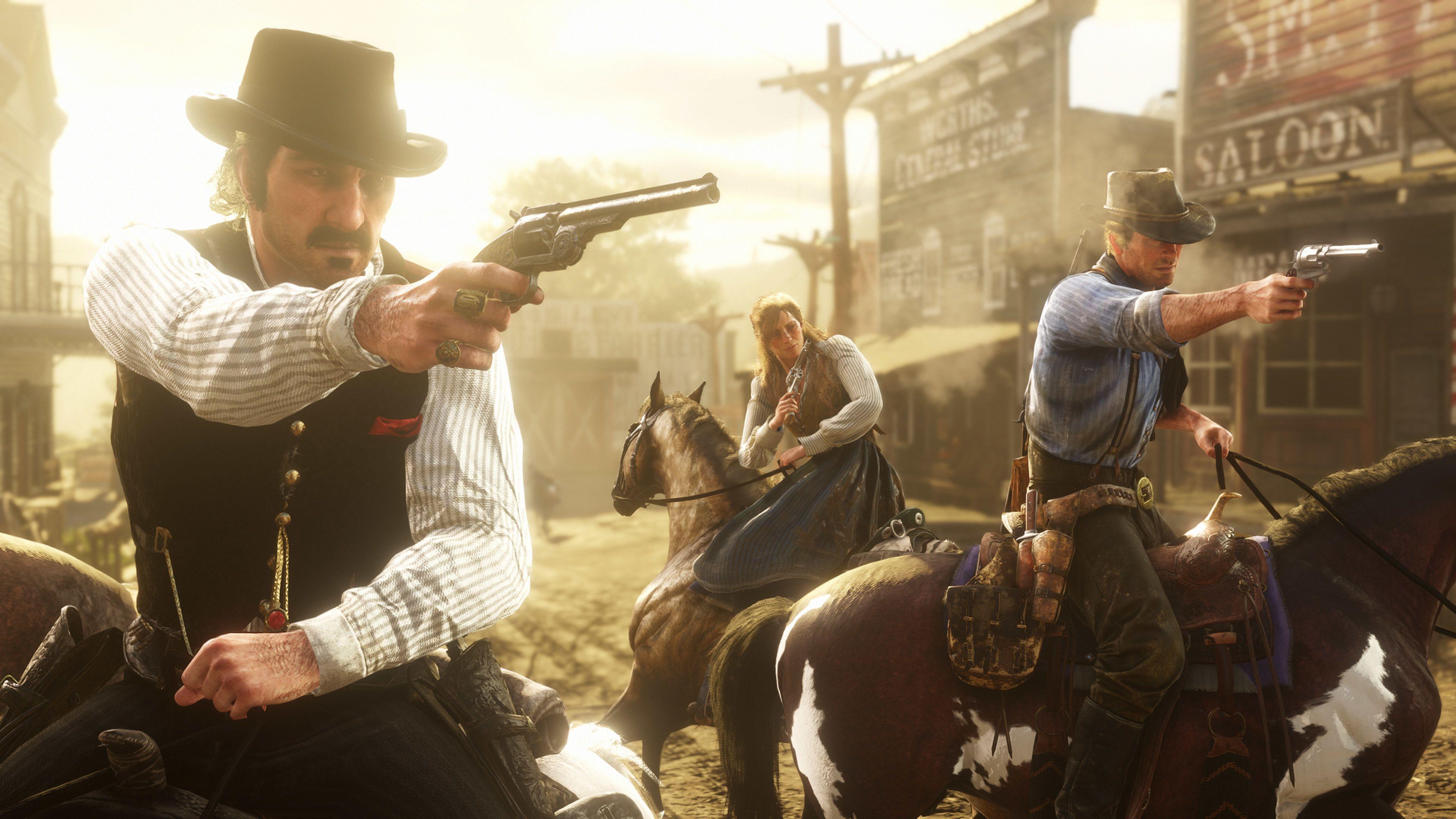 Red Dead Redemption 2 Dutch Van Der Linde Arthur Morgan Sadie Adler Red Dead Redemption Red Dead Online Red Dead Redemption Ii