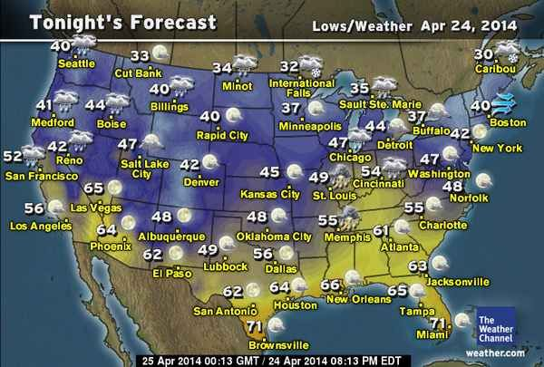 Us Weather Today Weather Cycles New Dj Map The Weather Channel - Weather-forecast-us-map