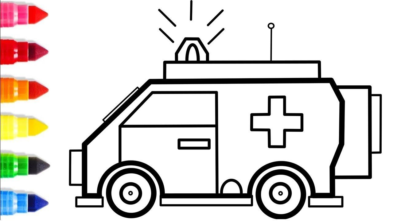 Ambulance Truck Coloring Pages Drawing And Coloring For Childrens How Truck Coloring Pages Ambulance Truck Drawings