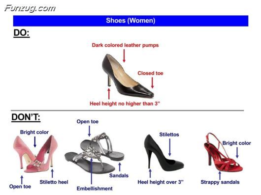 Women S Shoes Do S And Don T S Business Casual Shoes Women Shoes Professional Attire