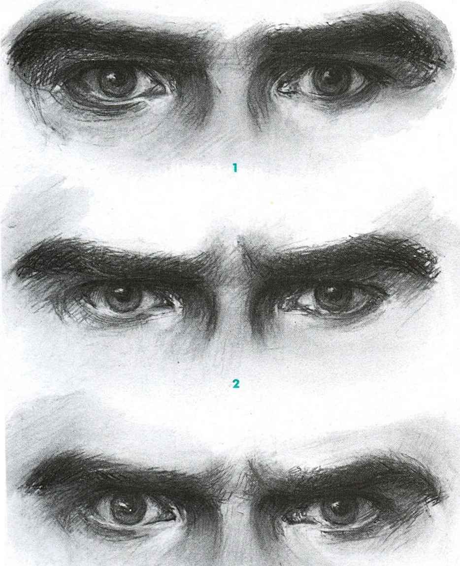 Angry men eyed male eyes eye art facial expressions pencil drawings art
